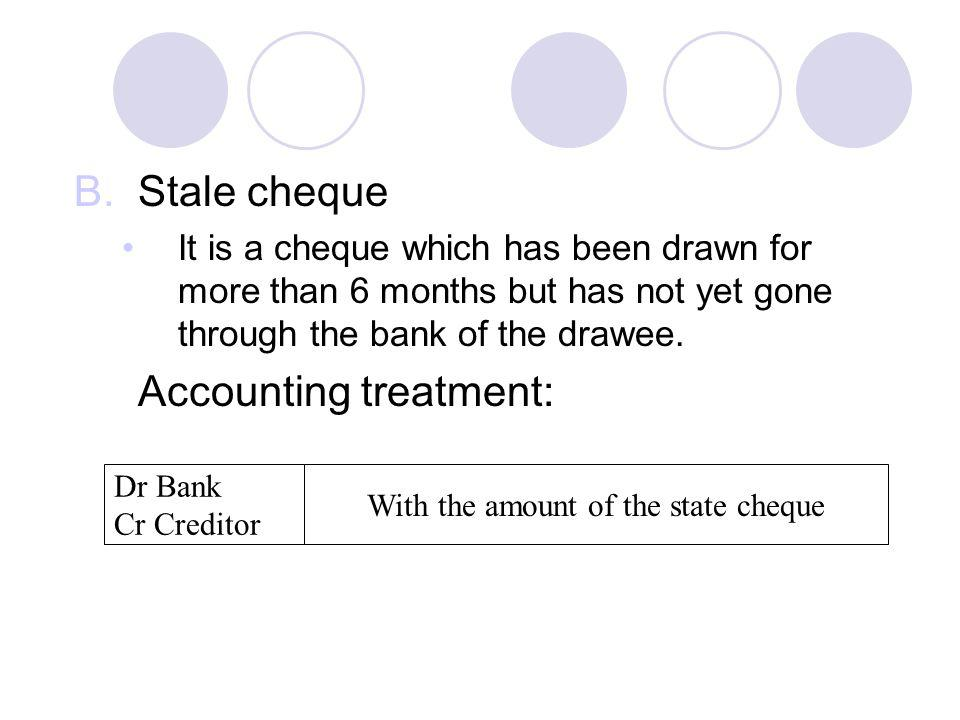 With the amount of the state cheque