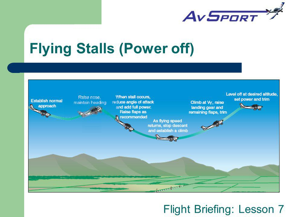 Flying Stalls (Power off)