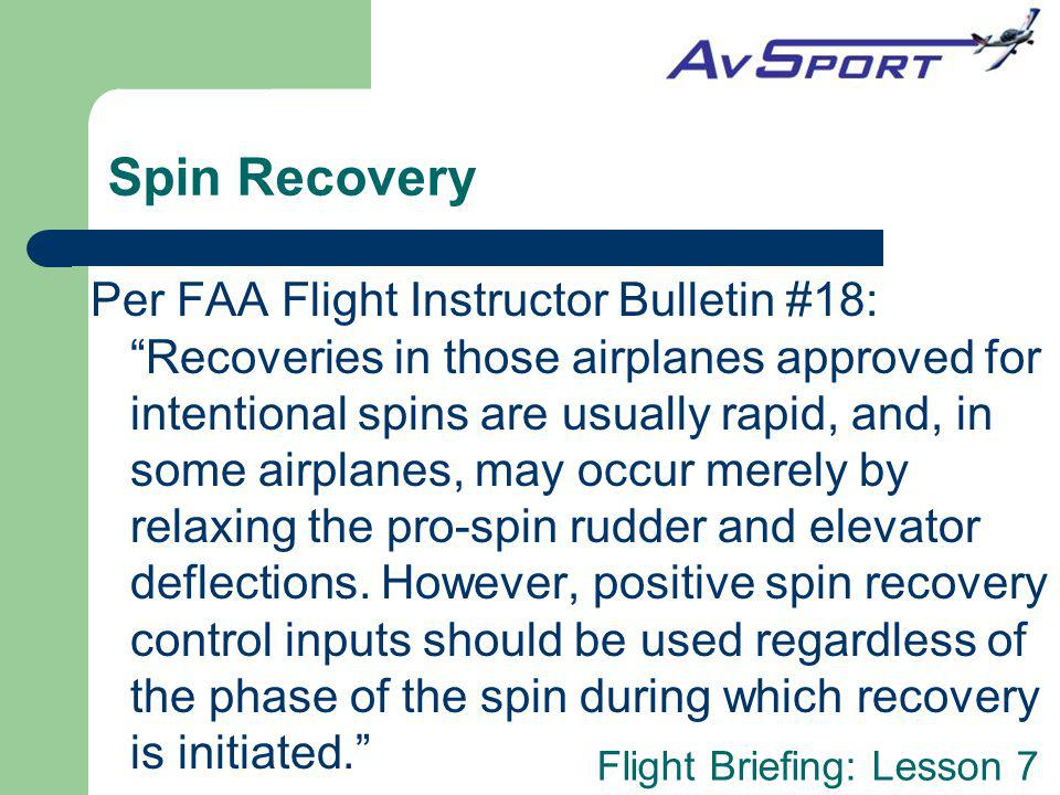 Spin Recovery