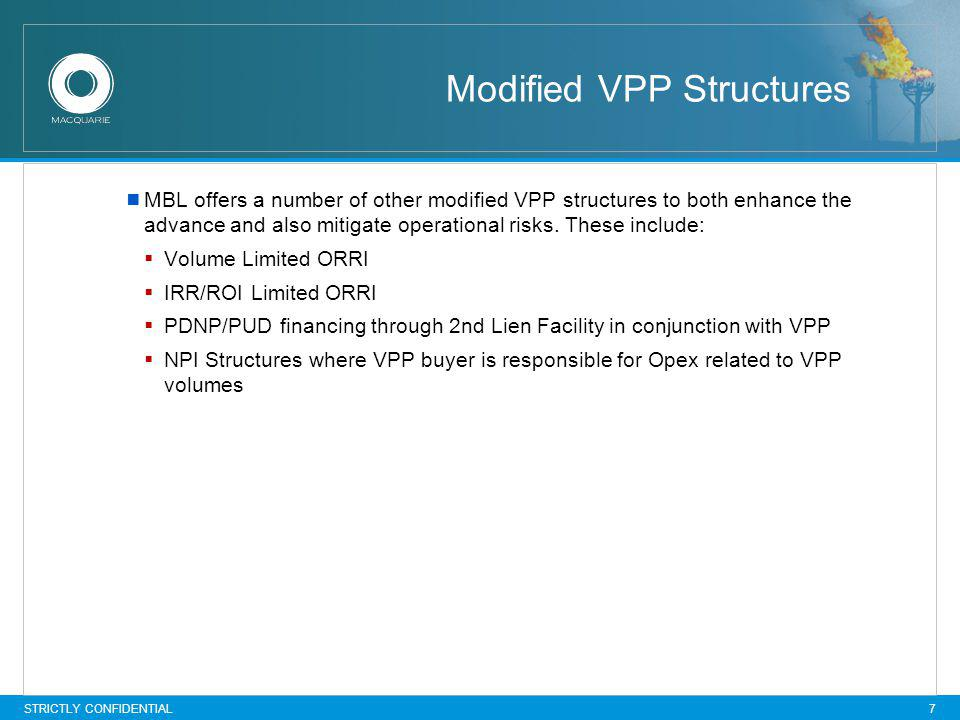 Modified VPP Structures