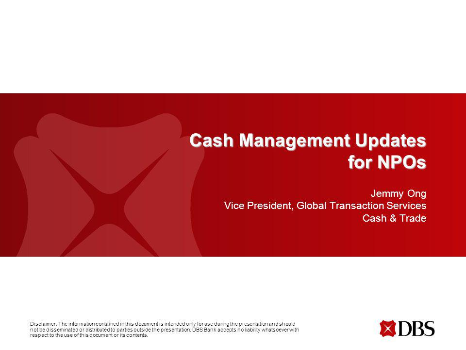 Cash Management Updates for NPOs