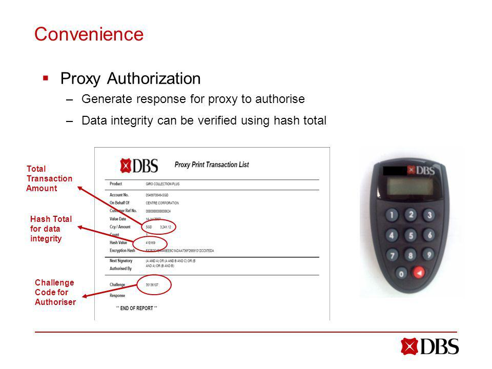 Convenience Proxy Authorization