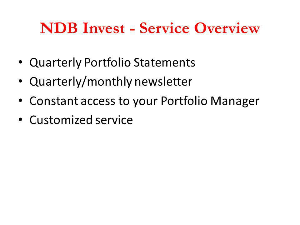 NDB Invest - Service Overview