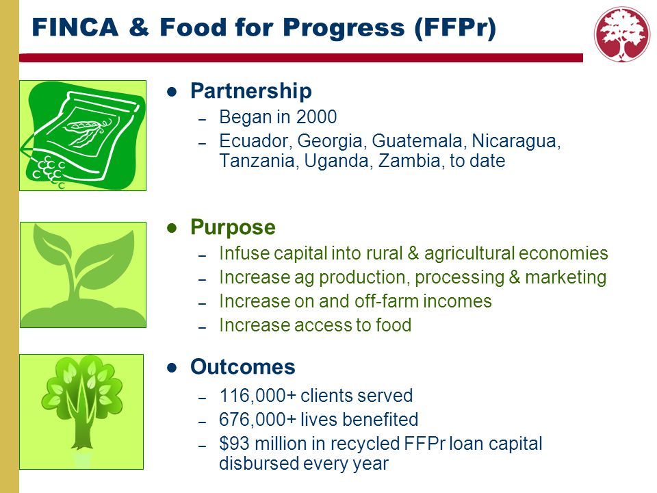 FINCA & Food for Progress (FFPr)