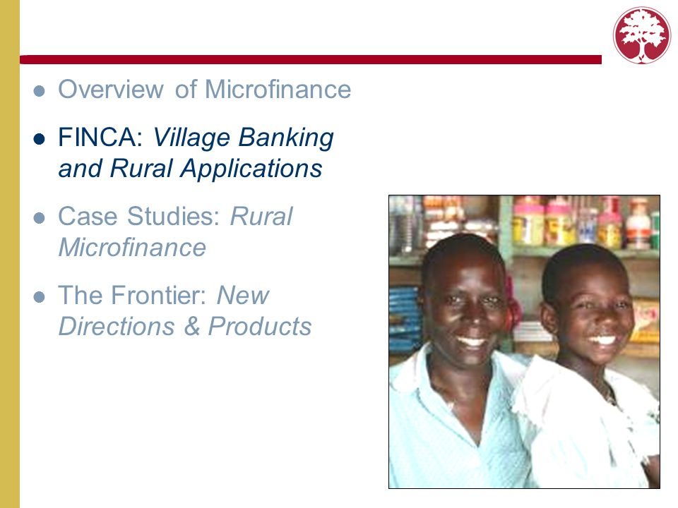 Overview of Microfinance