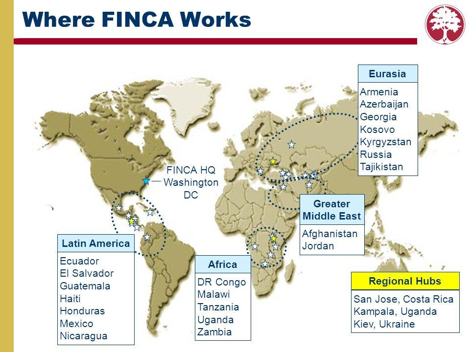 Where FINCA Works Eurasia Armenia Azerbaijan Georgia Kosovo Kyrgyzstan
