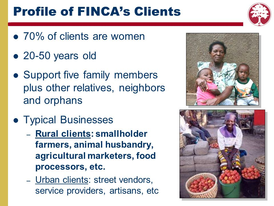 Profile of FINCA's Clients