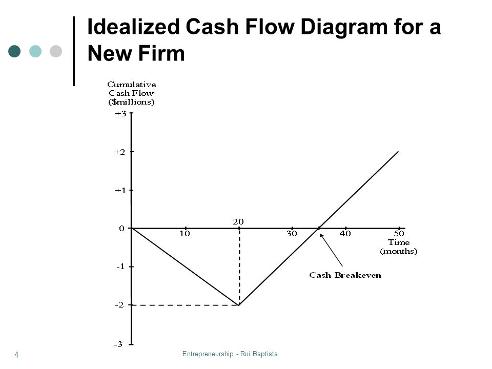 Idealized Cash Flow Diagram for a New Firm