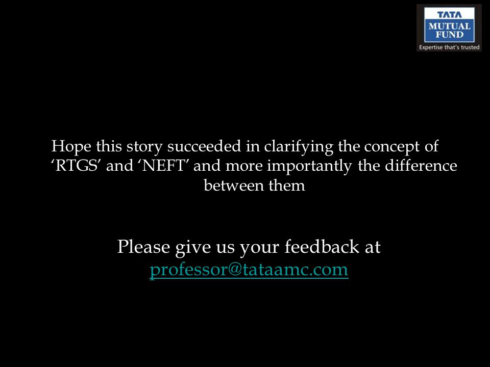 Please give us your feedback at