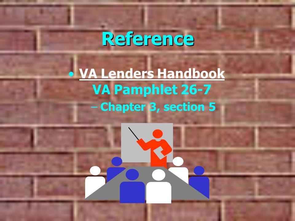 VA Lenders Handbook VA Pamphlet 26-7