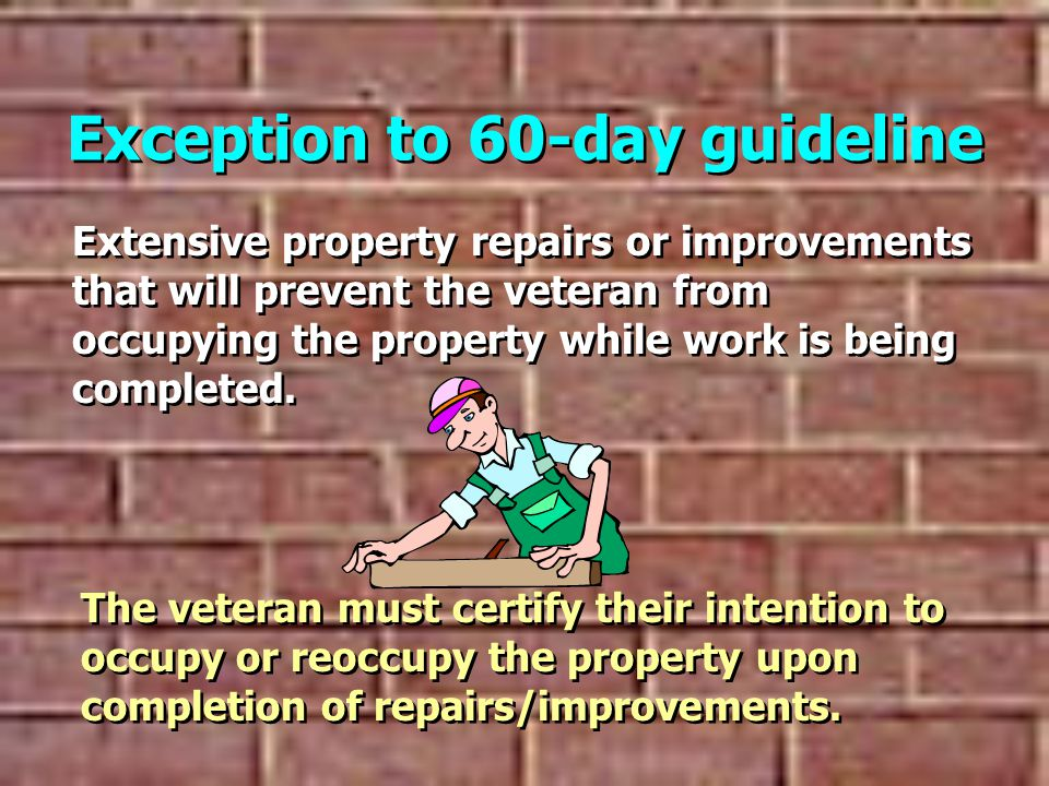 Exception to 60-day guideline
