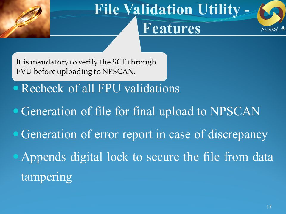File Validation Utility - Features