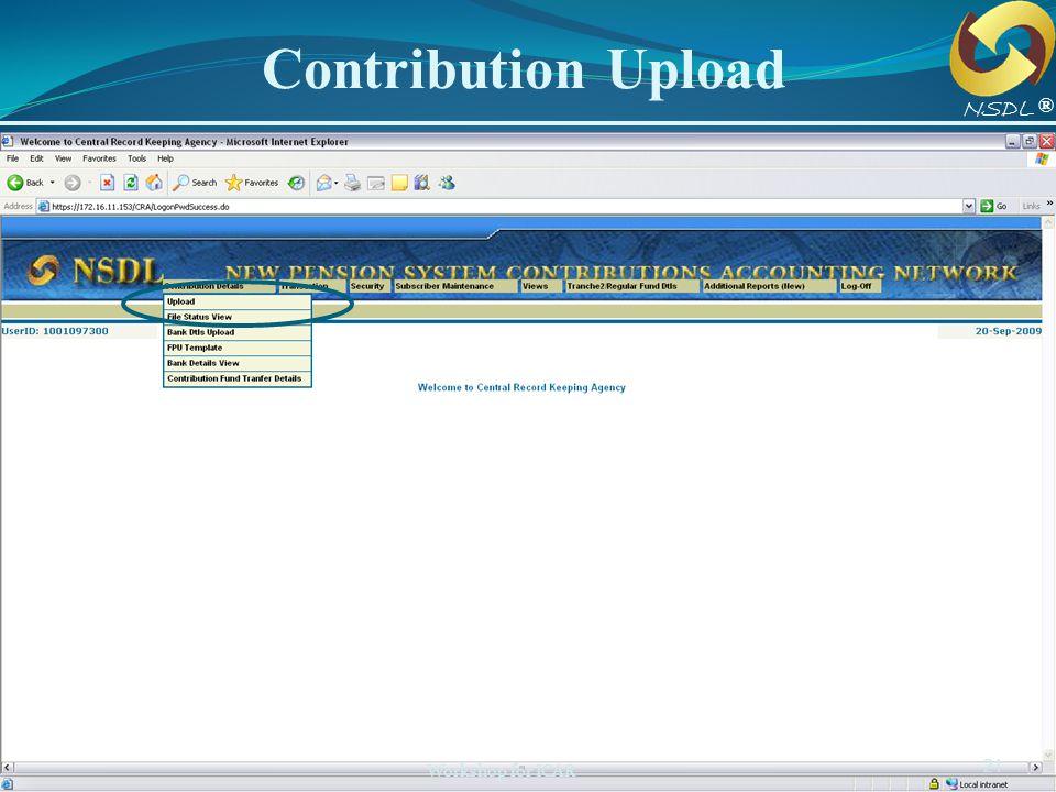 Contribution Upload NSDL ®