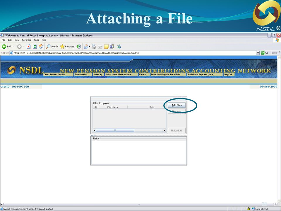 Attaching a File NSDL. ®