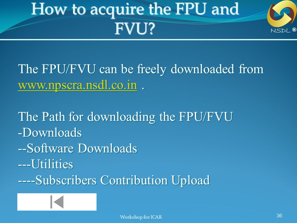 How to acquire the FPU and FVU