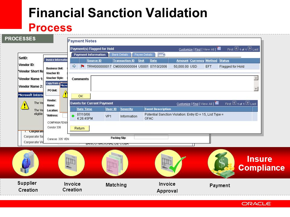 Financial Sanction Validation Process
