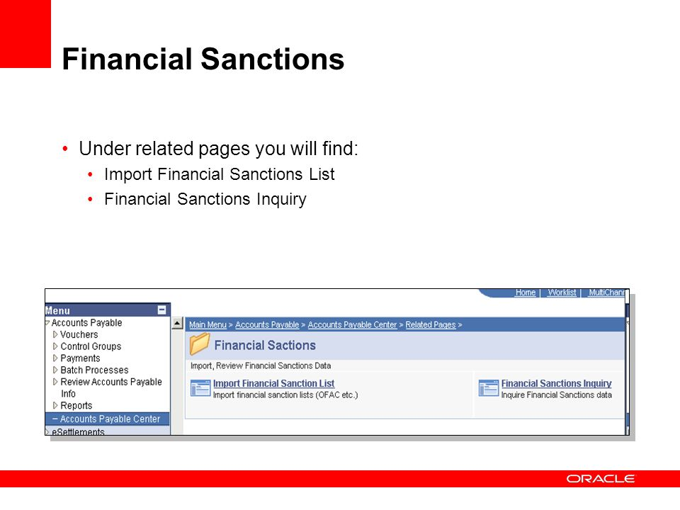 Financial Sanctions Under related pages you will find: