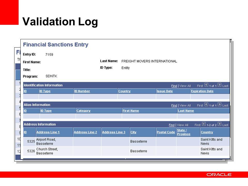 Validation Log