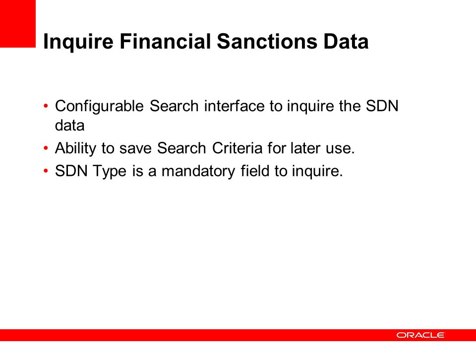 Inquire Financial Sanctions Data