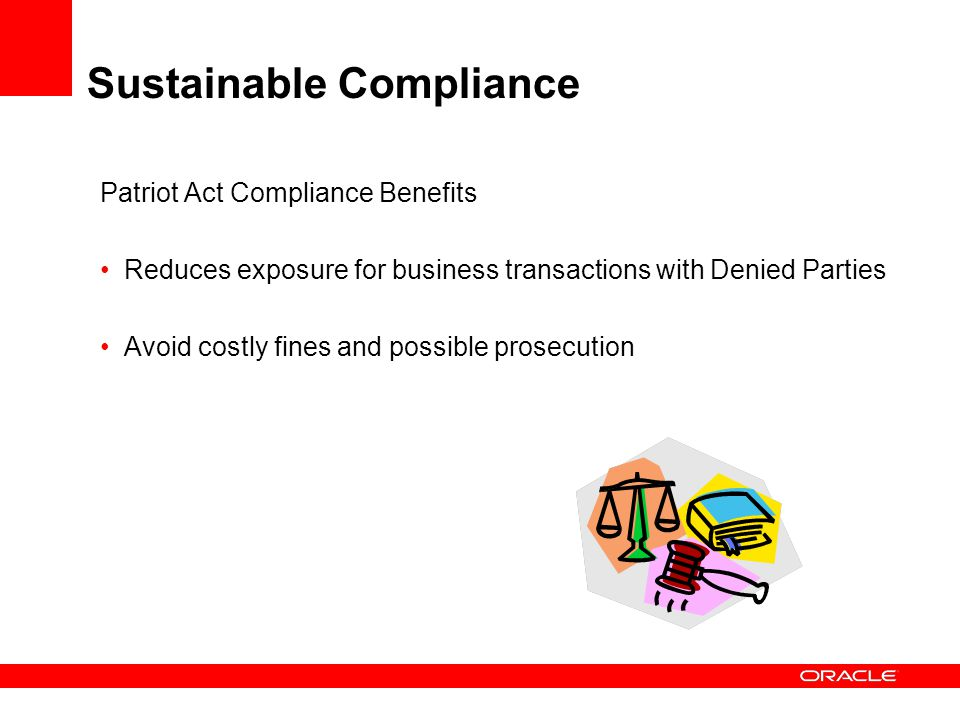 Sustainable Compliance
