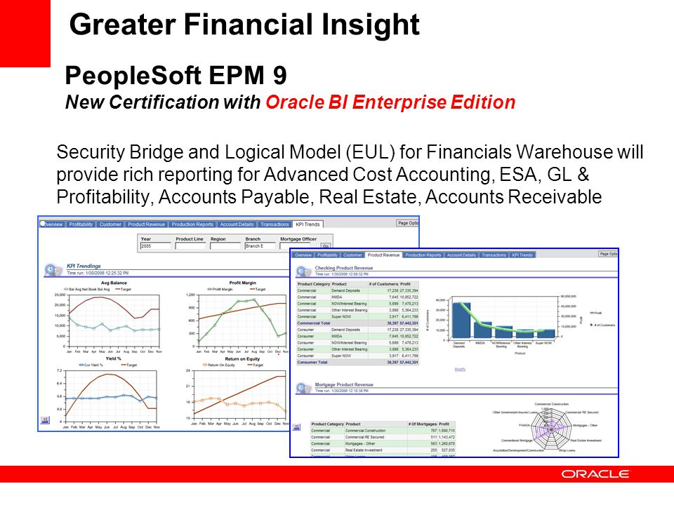 PeopleSoft EPM 9 New Certification with Oracle BI Enterprise Edition