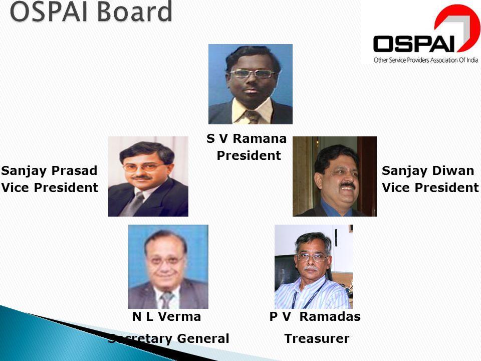 OSPAI Board S V Ramana President Sanjay Prasad Vice President