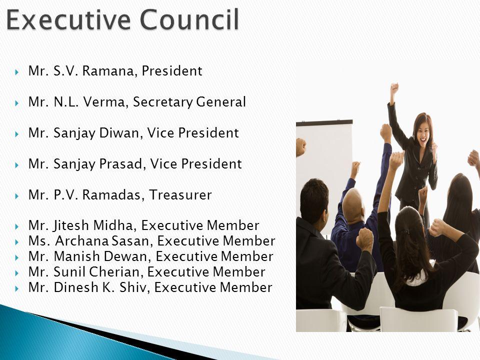 Executive Council Mr. S.V. Ramana, President