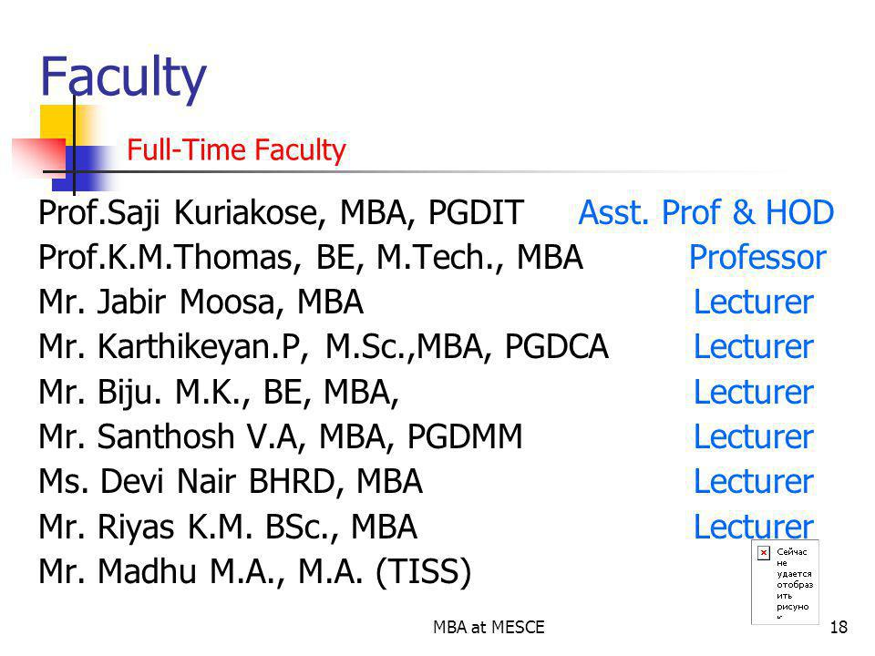 Faculty Full-Time Faculty