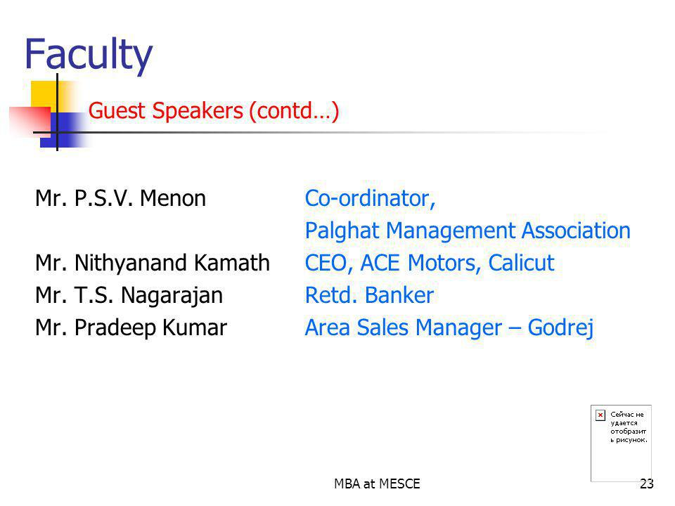 Faculty Guest Speakers (contd…)