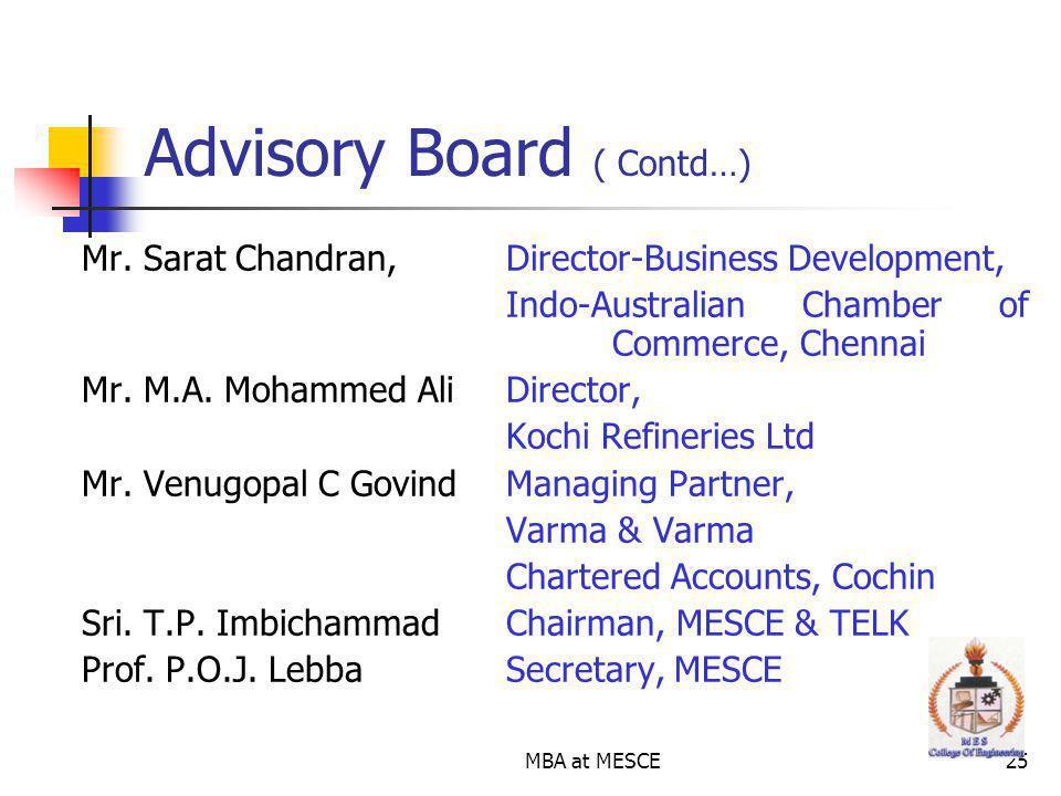 Advisory Board ( Contd…)