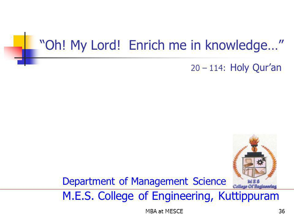 Oh! My Lord! Enrich me in knowledge… 20 – 114: Holy Qur'an