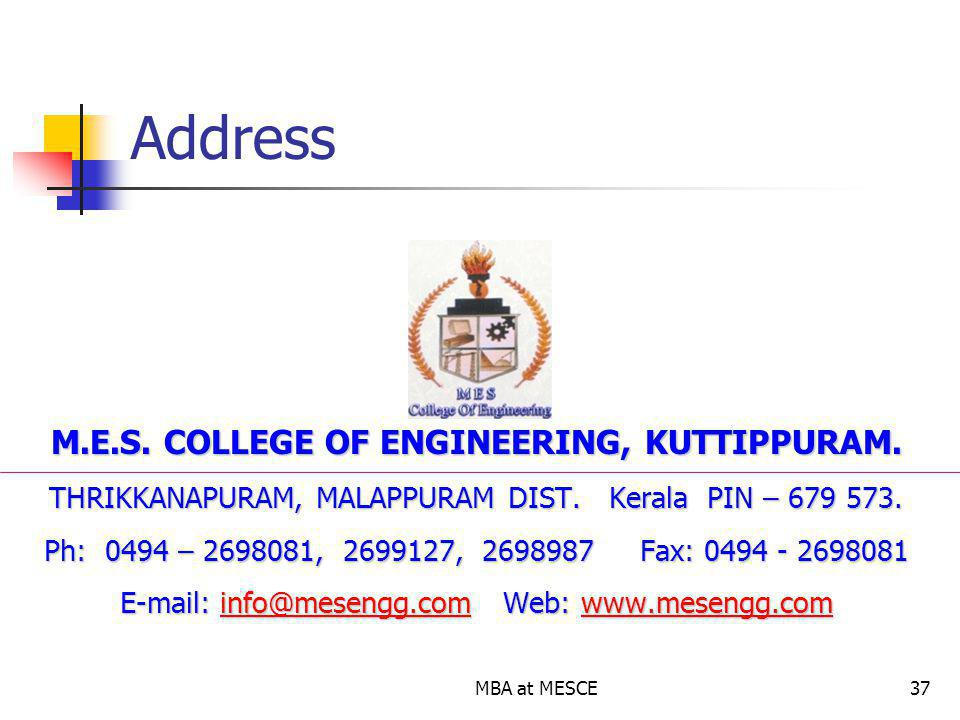 M.E.S. COLLEGE OF ENGINEERING, KUTTIPPURAM.