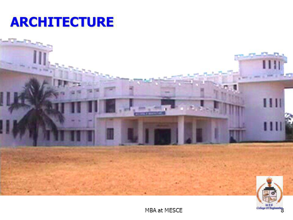 ARCHITECTURE MBA at MESCE