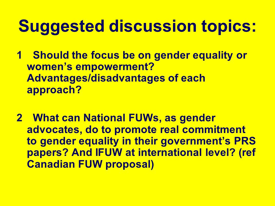 Suggested discussion topics: