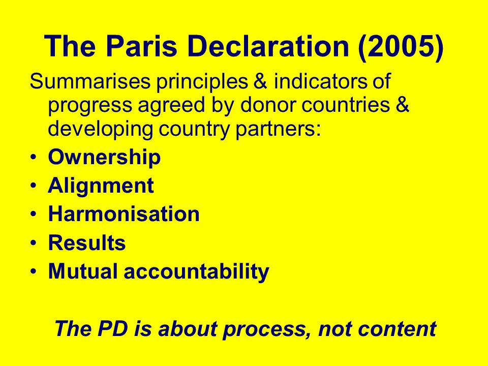 The Paris Declaration (2005)