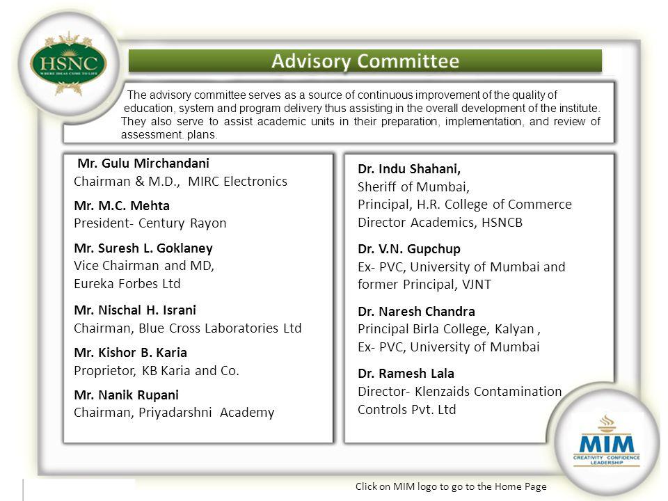 Advisory Committee Advisory Committee Advisory Committee