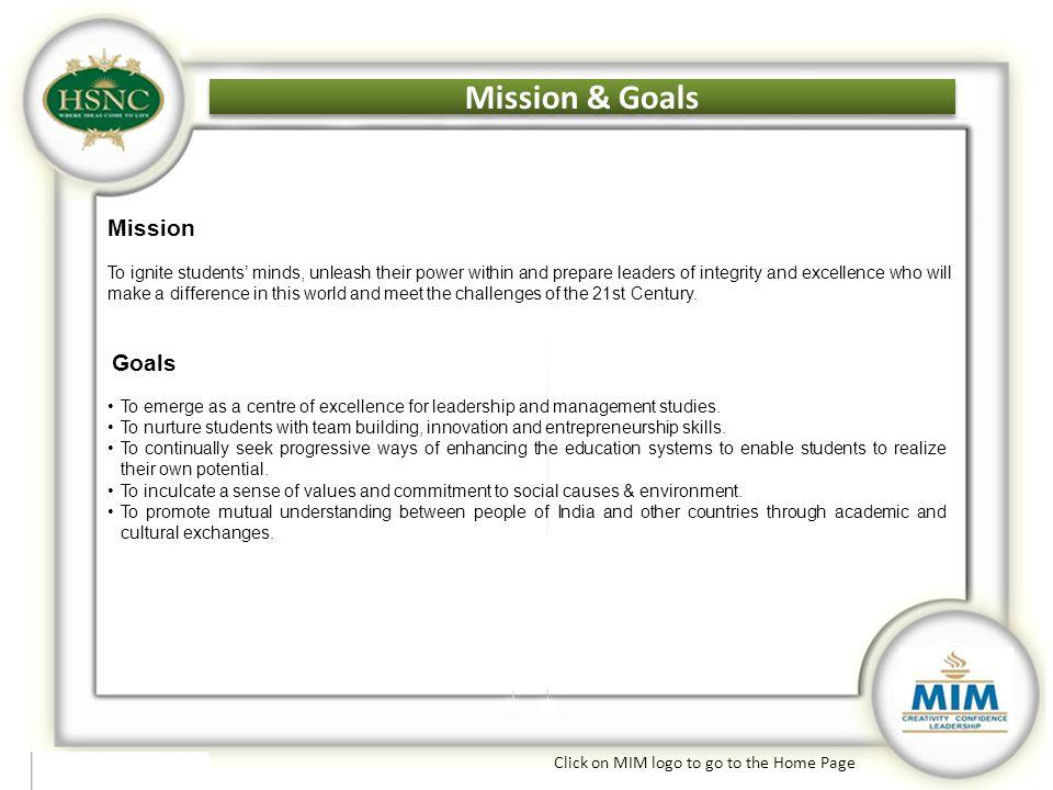 Mission & Goals Mission