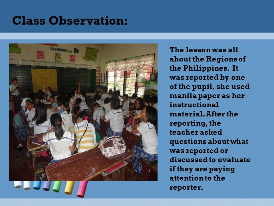 Class Observation: