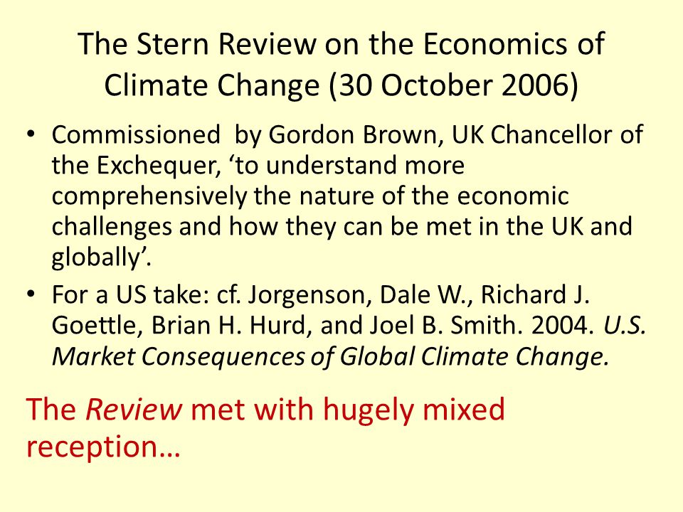 The Stern Review on the Economics of Climate Change (30 October 2006)