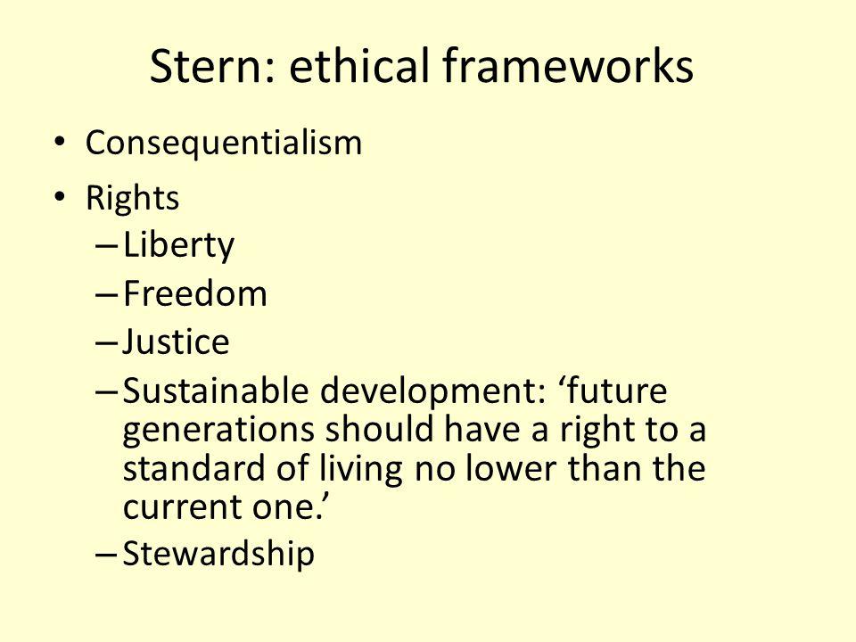 Stern: ethical frameworks