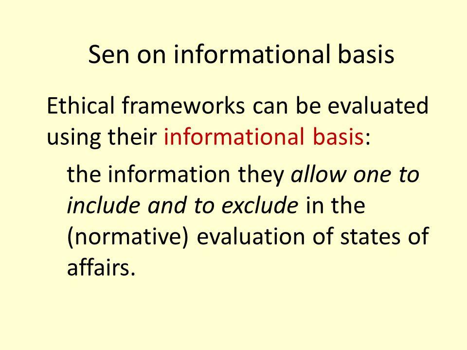 Sen on informational basis