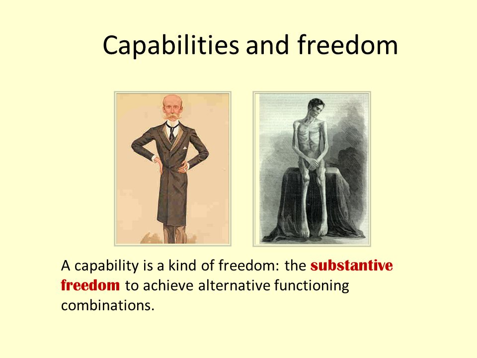 Capabilities and freedom