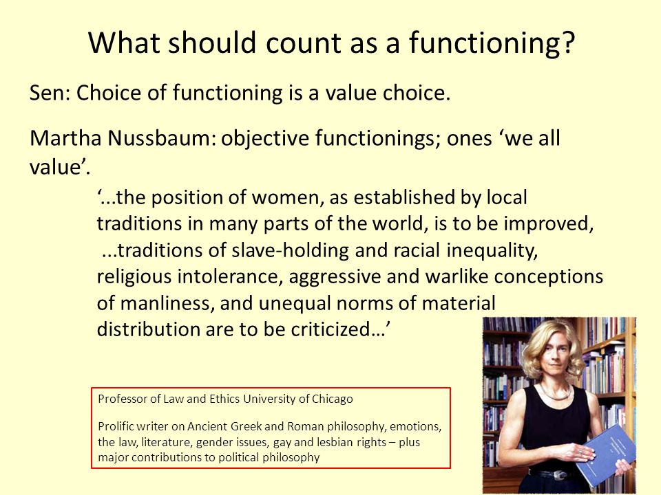 What should count as a functioning