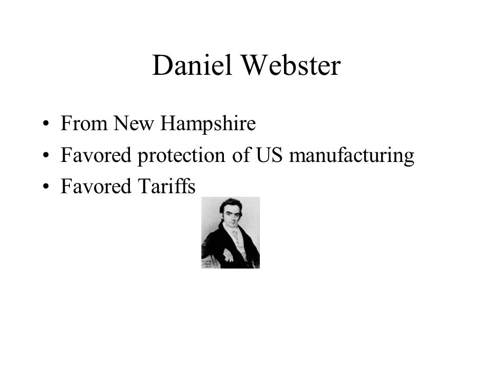 Daniel Webster From New Hampshire