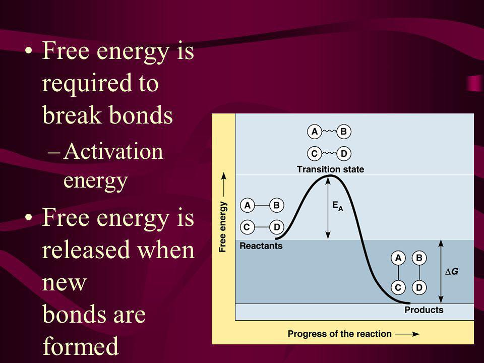 Free energy is required to break bonds
