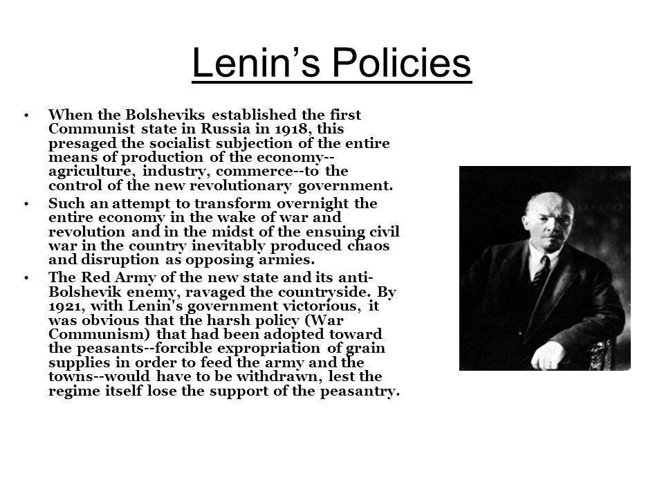 Lenin's Policies
