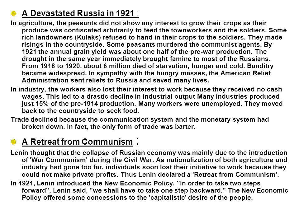 A Devastated Russia in 1921 :