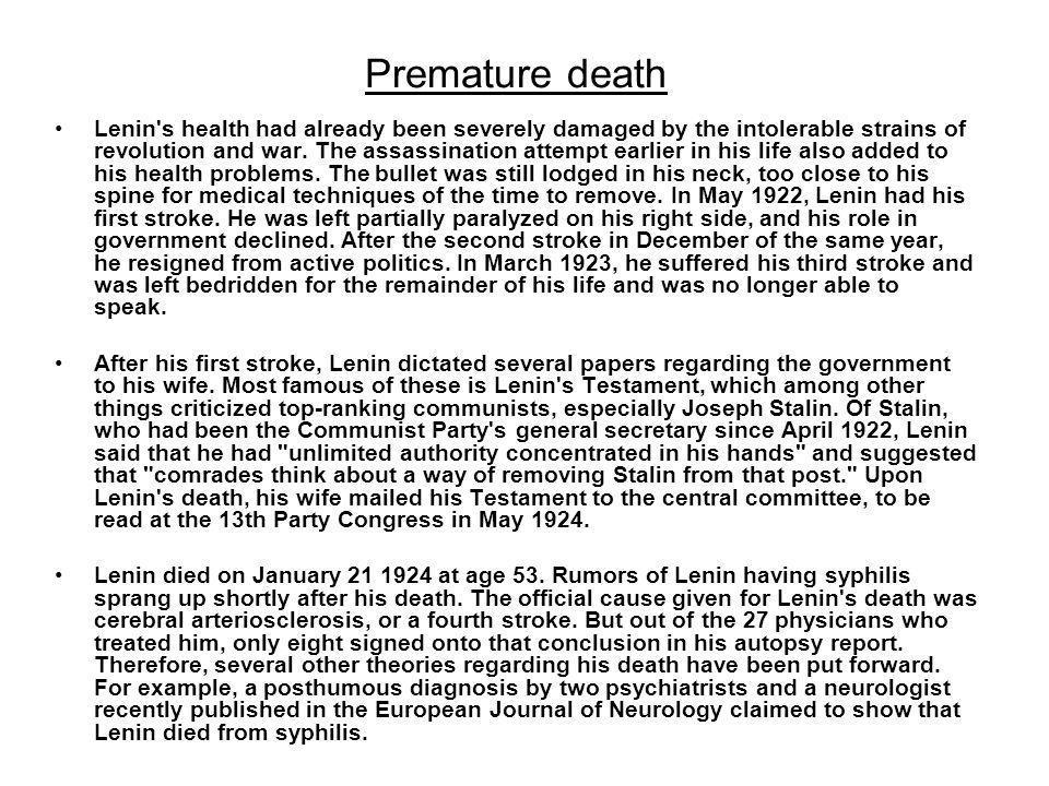 Premature death