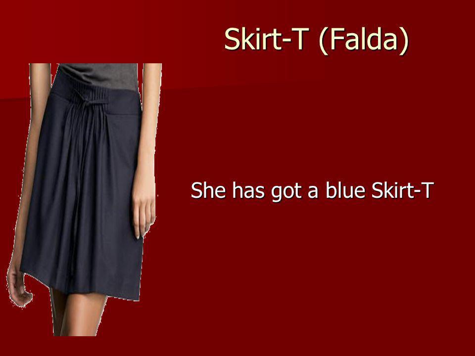 Skirt-T (Falda) She has got a blue Skirt-T