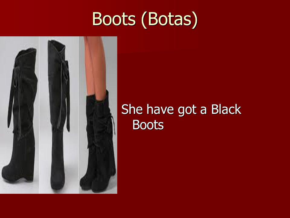Boots (Botas) She have got a Black Boots
